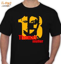 Brazil football World Cup Thomas-Muller T-Shirt