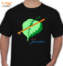 Govinda aala re lord-krishna-s-flute-and-leaf T-Shirt