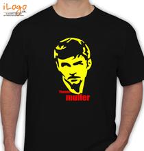 Brazil football World Cup thomas-muller-balck-yellow T-Shirt