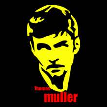 Brazil football World Cup thomas-muller-balck-yellow T-Shirt