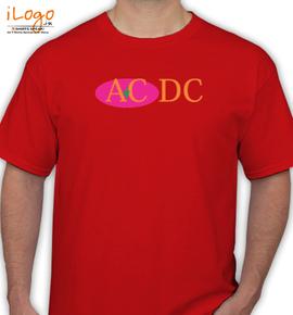 ac dc classic oval logo - T-Shirt