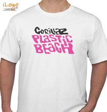 Gorillaz -plastic-beach- T-Shirt