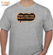 Frank Zappa brainpoliceblack T-Shirt