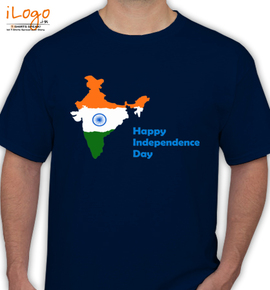 happy independence day india map - T-Shirt