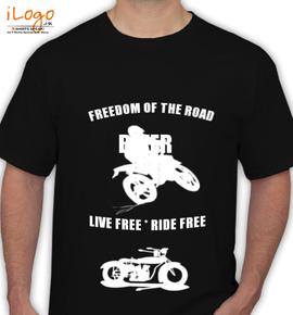 biker- - T-Shirt