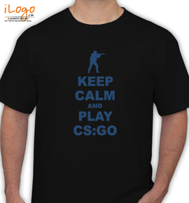 keep calm and play cs go - T-Shirt