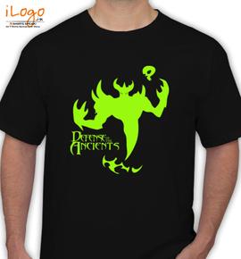 Freeshipping Summer luminous font b Nevermore b font Shadow Friend font b dota b font - T-Shirt