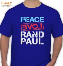 Ran D PEACE-LOVE-RAND-PAUL T-Shirt
