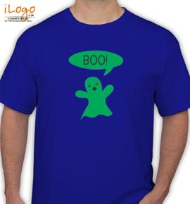 Cute Ghost Says Boo Kids% - T-Shirt