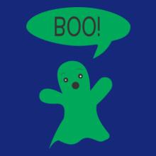 Cute-Ghost-Says-Boo-Kids% T-Shirt