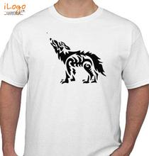 Howlin' Wolf Wolf-Stencil T-Shirt