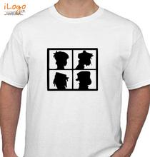 Gorillaz white-gorilaz T-Shirt