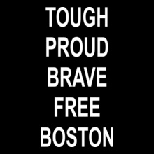 BOSTON-PROUD-BRAVE-FREE T-Shirt