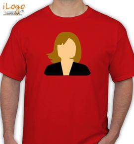 Faceless Woman Clip Art - T-Shirt