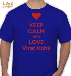 keep calm and love virat kohli - T-Shirt
