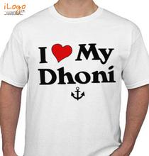 MS Dhoni I-love-my-Dhoni T-Shirt