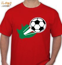 Black-football-soccer-world-cup-out-of-South-Africa-s-T-Shirts T-Shirt