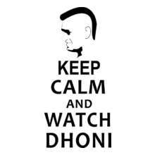 Cricket  keep-calm-and-watch-dhoni T-Shirt
