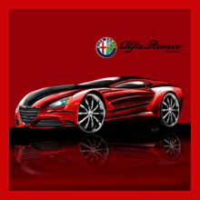 ASH CUSTOM DESIGNS alfa-romeo T-Shirt