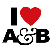 i-heart-ab-white-t-shirt-mens T-Shirt