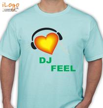 DJ Feel dj-feel-heart T-Shirt