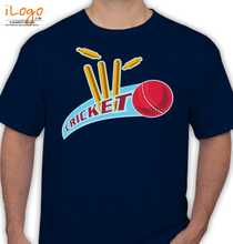Cricket-sports-ball-wicket T-Shirt