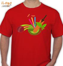 cricket-logo-ball-bat-wickets T-Shirt