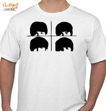 The Beatles Tattoo-Beatles-Sticker T-Shirt