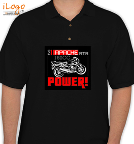 Apache rtr tvs personalized polo shirt at best price for Custom polo shirts canada