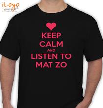 Mat Zo KEEP-CALM-AND-LISTEN-TO-MAT-ZO T-Shirt