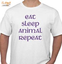 Martin Garrin EAT-SLEEP-ANIMAL-REPEAT T-Shirt