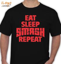 Martin Garrin EAT-SLEEP-SMASH-REPEAT T-Shirt