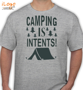 camping is intenst % - T-Shirt