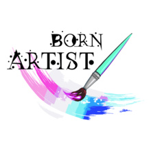 CRACKING DESIGNS BornArtist T-Shirt