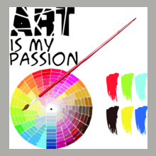 CRACKING DESIGNS ArtIsMyPassion T-Shirt