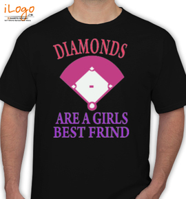 diamonds are a girls best friend - T-Shirt
