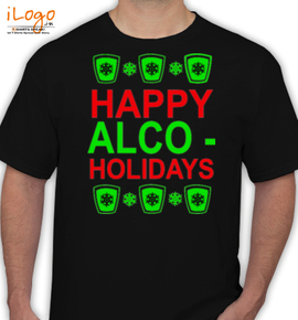 e8ccd4b4 Happy-alco-holidays Personalized Men's T-Shirt at Best Price ...