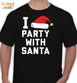 i-party-with-santa - T-Shirt