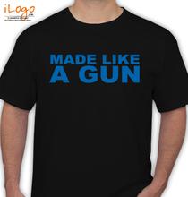 Biker Gun-Tee-Royal-Enfield T-Shirt