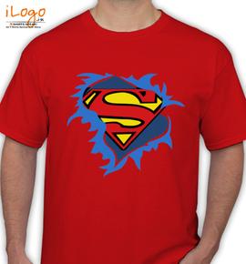 t shirt femme superman torn logo personalized men 39 s t. Black Bedroom Furniture Sets. Home Design Ideas