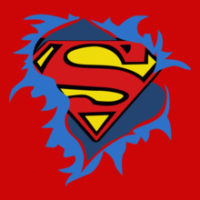 Superman t-shirt-femme-superman-torn-logo T-Shirt