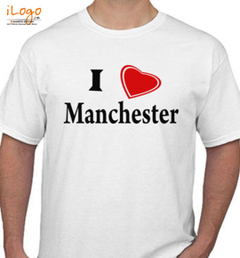 i love you manchester united - T-Shirt