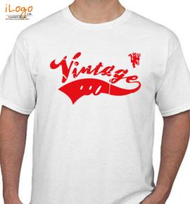 manchester united men vintage t shirt - T-Shirt