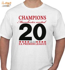 the premer league munchester united chiampin short sleeve t shirt - T-Shirt