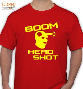 boom head shot - T-Shirt
