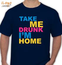Showtex SHOWTAK-HOME-DRUNK T-Shirt