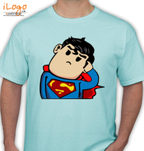 confused-superman-ripped-off-navy T-Shirt