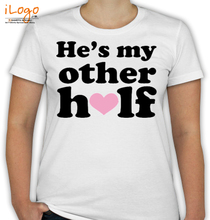 Couple he%s-my-other-half T-Shirt