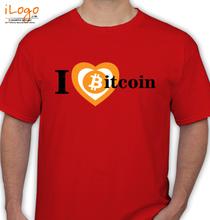 Friendship Day I-Love-Bitcoin T-Shirt