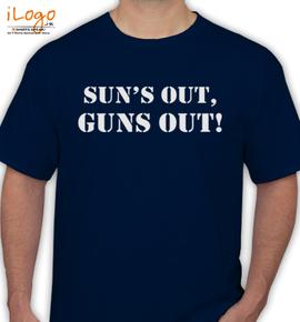 guns out - T-Shirt